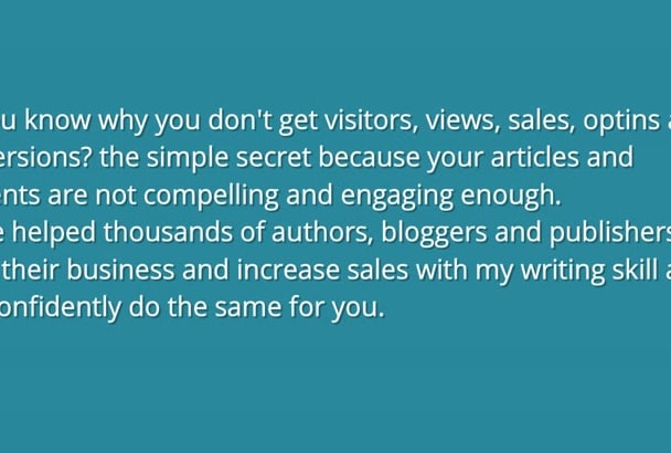 do SEO article and content Writing