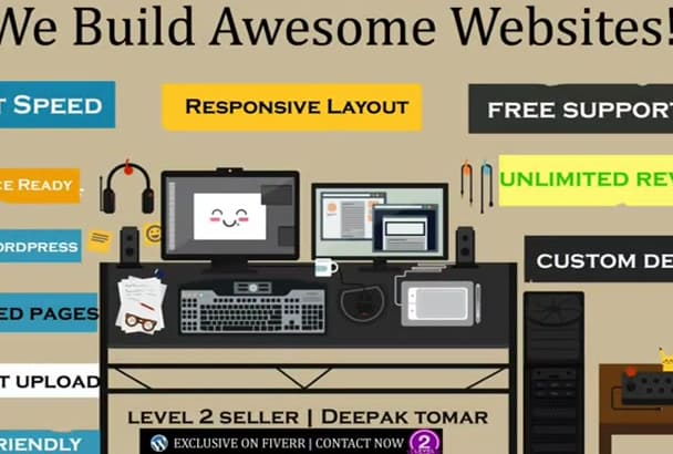 design SEO optimized fully responsive WordPress website or blog in 48 hours