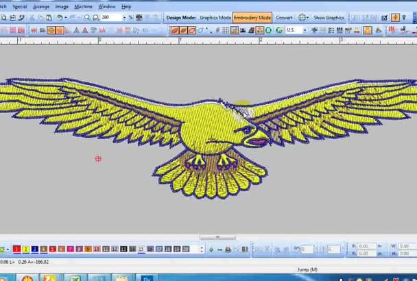 do embroidery logo design digitize for any maching 4 hours