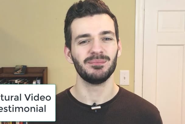 make A NATURAL Testimonial Video