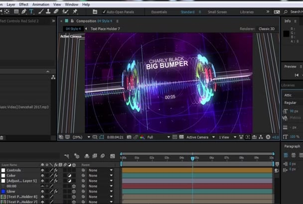 professionally edit any after effect or videohive project