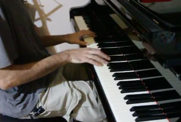 create a beautiful piano piece