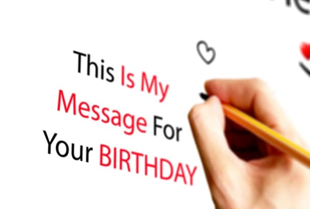 make a video Happy Birthday or Valentine Day