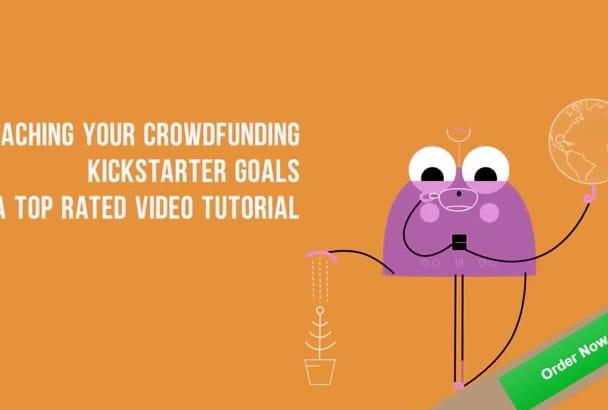 help reaching your crowdfunding kickstarter goals