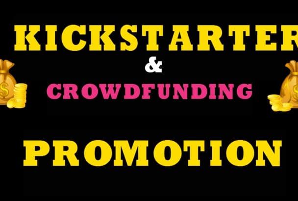 share,promote,advertise kickstarter indiegogo crowdfunding