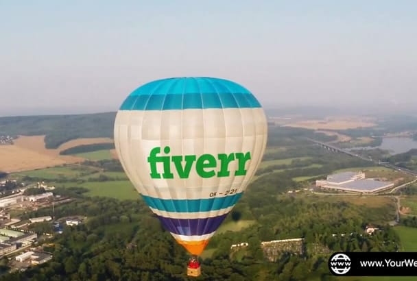 promote your Logo and website on a Hot Air Balloon
