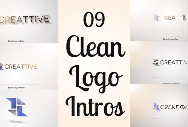 create 09 CLEAN Logo Animation Intro Video