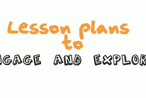 do your lesson plans