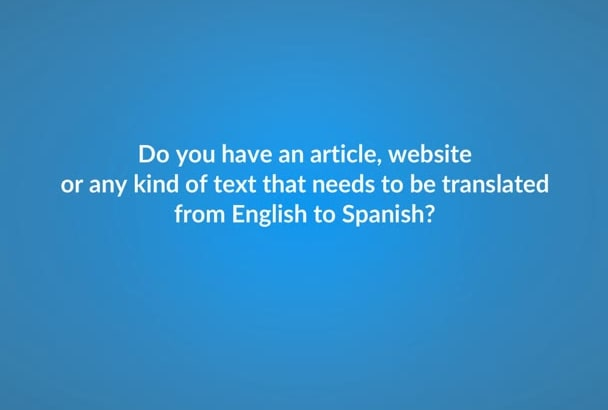 translate from English to native Spanish and vice versa
