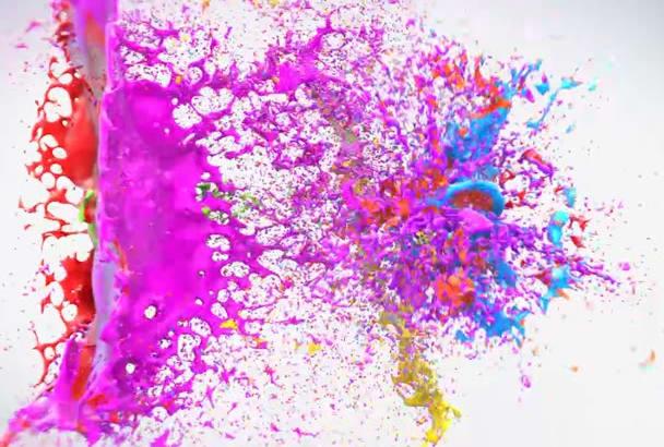 make Colorful Splash Logo Animation in HD