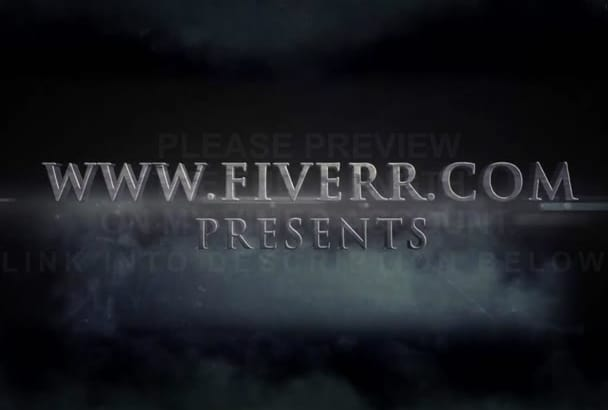 customize 2D or 3D dark cloud action trailer to promote BOOK website or product