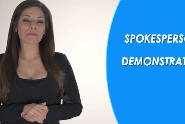 be your video Spokesperson in HD on White Background
