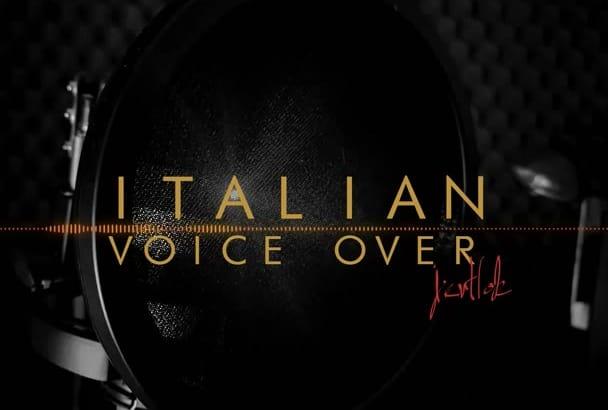 record native italian voice over, 200 words