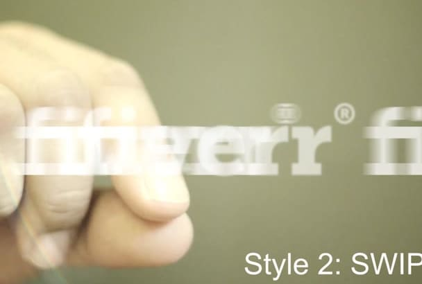 create this HD hand logo reveal intro