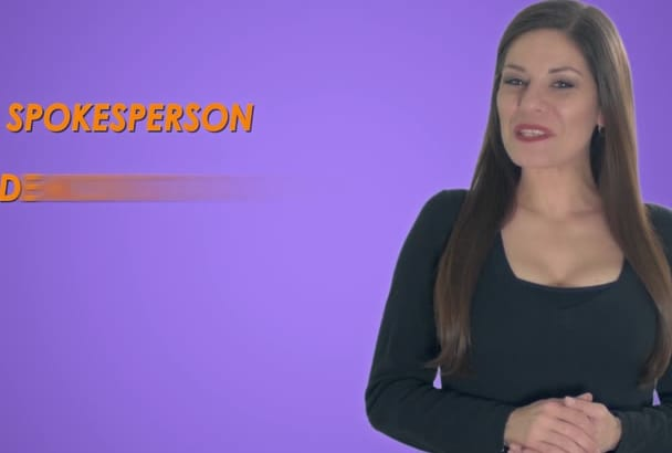 be your video spokesperson in HD on a Green Screen