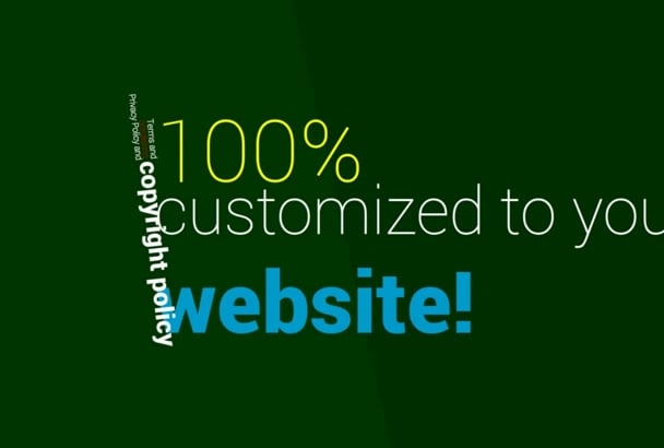 write PERFECT Terms and Conditions for your website