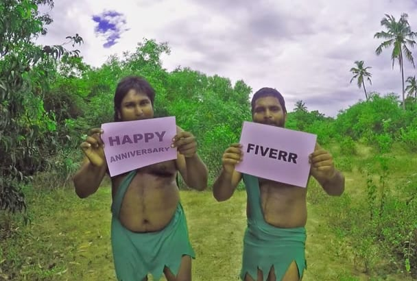 sing Happy Anniversary wishes in the jungle