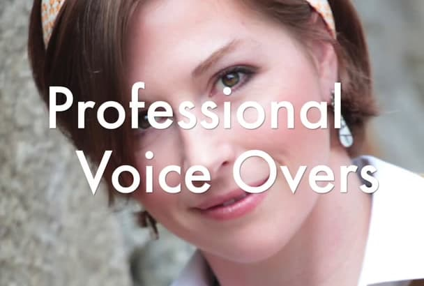 record a professional voice over in an American accent