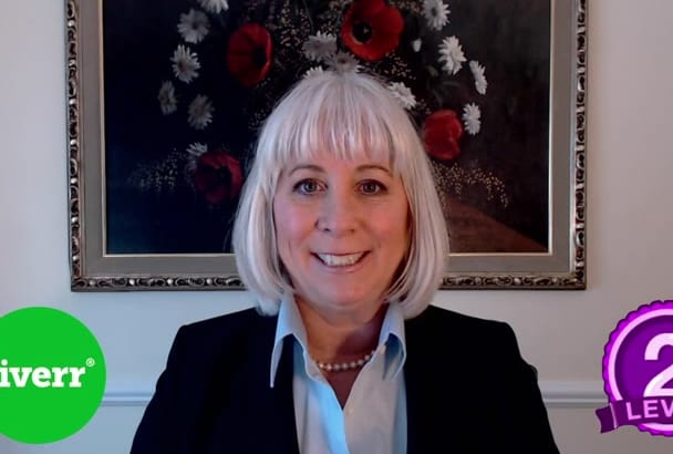 be an American businesswoman in your  testimonial video