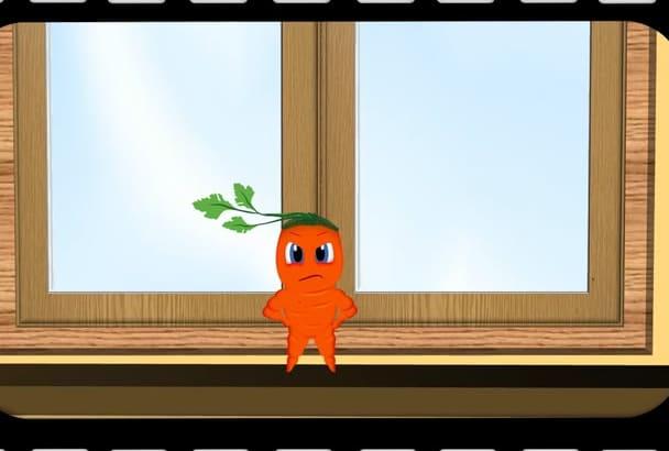 create a 20 seconds 2D Digital Animation video