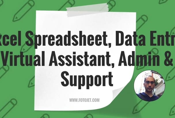 work on your Excel Spreadsheet, Data Entry