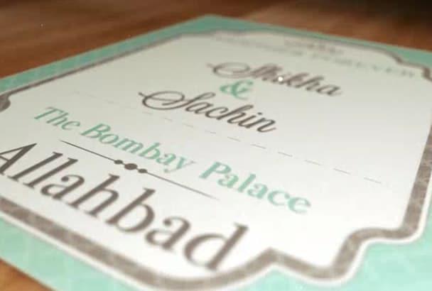 make a wedding invitation video