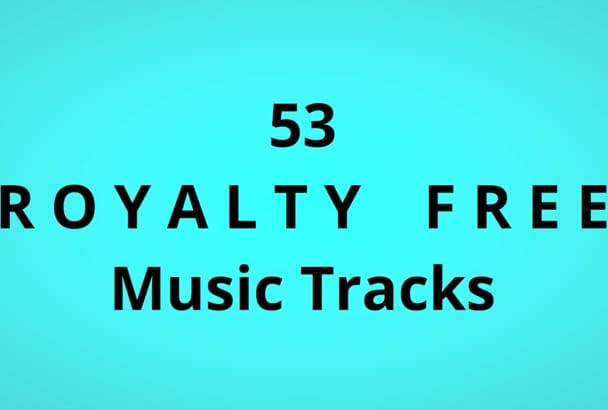 send 53 royalty free mp3 music tracks for your  projects