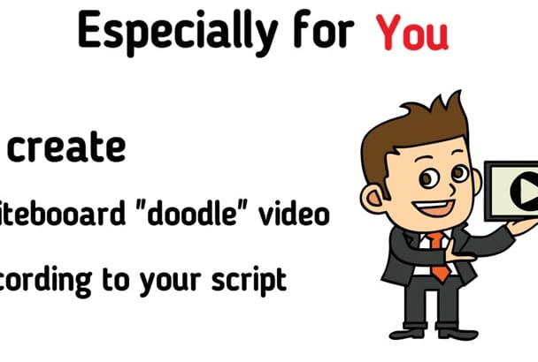 create a whiteboard animation doodle video