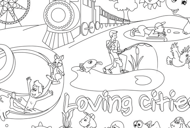 draw printable coloring pages for kids