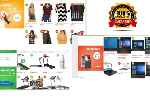 build Awsome  Amazon Affiliate niche Ecommerce Website