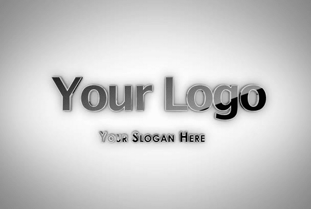 create Professional 3d Logo intro Animation