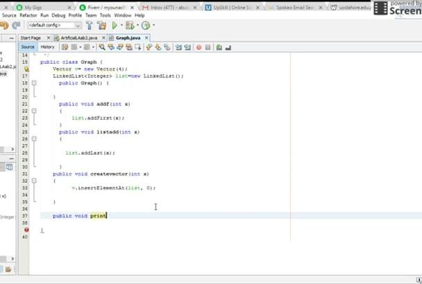 do java programming, debugging and designing