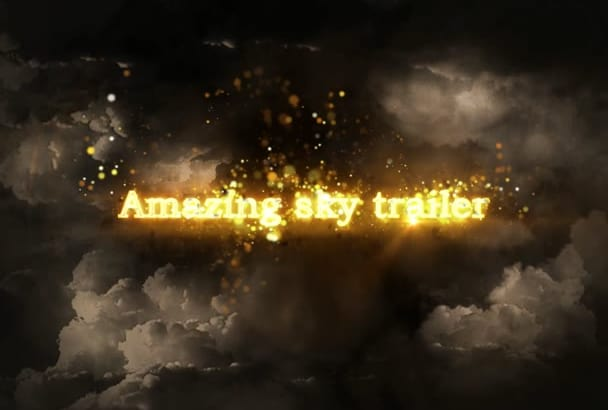 make Sky video intro movie trailer impressive