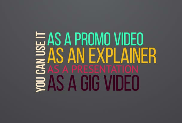 create kinetic typography video with animated ELEMENTS