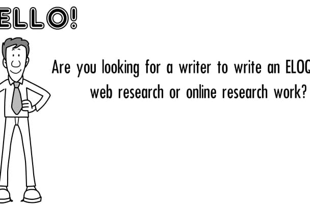 do an ELOQUENT web research and article writing