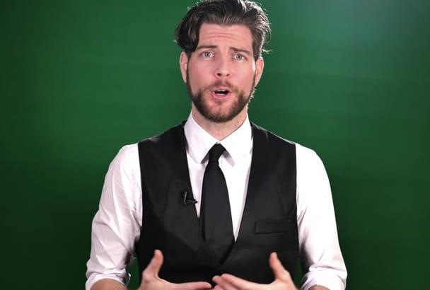 film a green screen spokesperson video