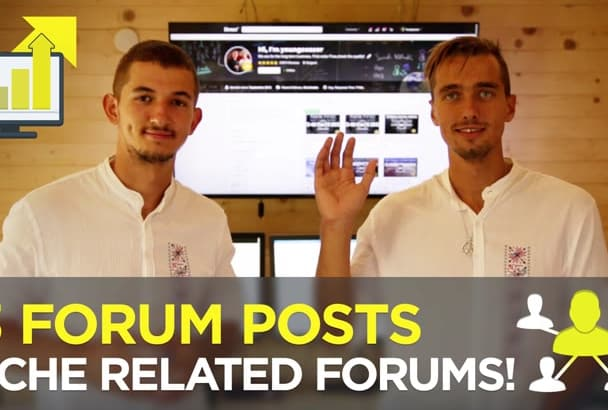 do 13 forum posts in your niche to bring targeted customers