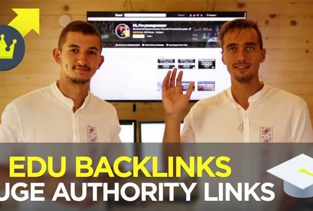 do 13 EDU Backlinks to bring you top Google rankings