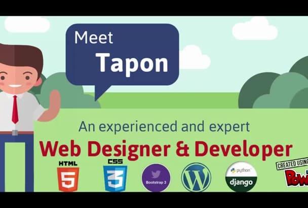 convert PSD to html web template