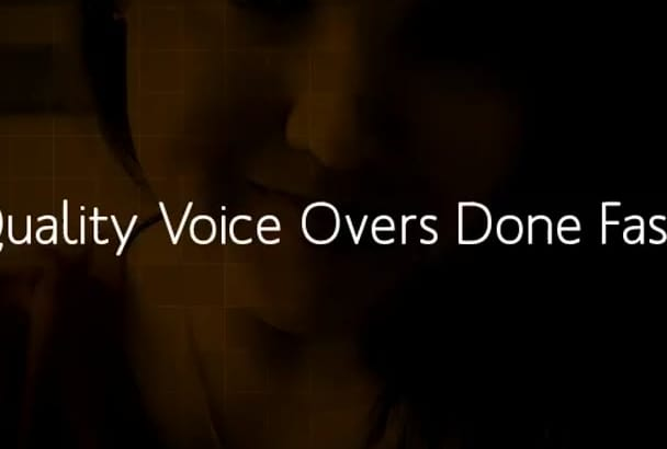 record a quality voice over up to 1500 words
