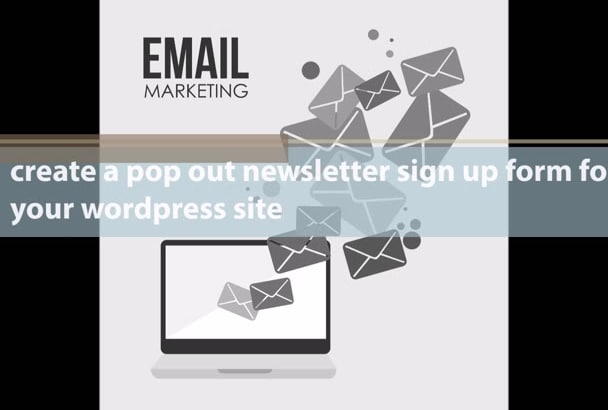 create a pop out newsletter sign up form for your wordpress site