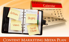 I will create an   week content marketing media schedule  featured Fiverr Top Rated