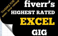 make excel macro, chart, formula, mail merge, invoice, etc