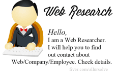 do web research or contact research for you - Web Researcher