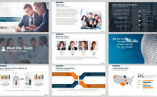 create professional powerpoint template for you