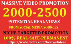 promote youtube video for potential real views from top social media