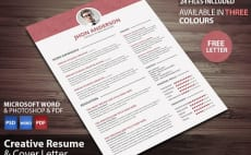create a resume suitable to your taste