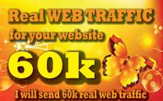 send 60k,web,traffic,within 30 days