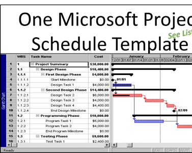 provide you one microsoft project schedule template