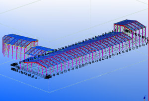 I will model structural steel using tekla